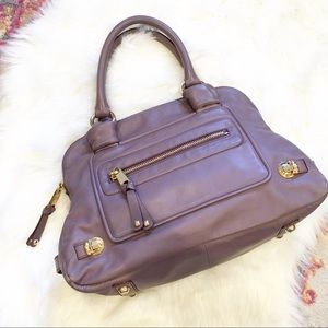 Marc Jacobs Lavender Leather Mercer Satchel Bag